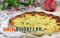 Открытый пирог с кабачком, рецепт с фото пошагово