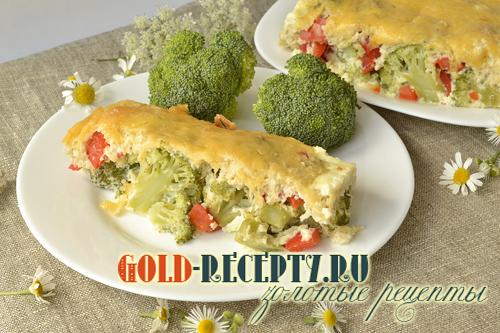 Пирог с брокколи, рецепт пирога на кефире с бррокли и сыром