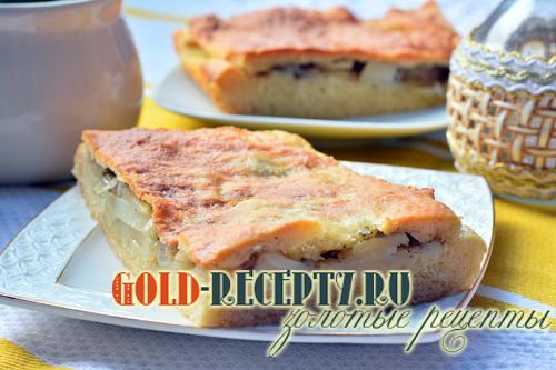 Пирог с картошкой рецепт на дрожжевом тесте