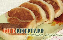 Пирожки с капустой, рецепт жаренных  пирожови из дрожжевого теста