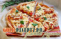 Пицца на кефире с курицей, рецепт теста для пиццы на кефире