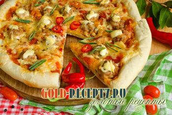 Домашняя пицца с фрикадельками в духовке