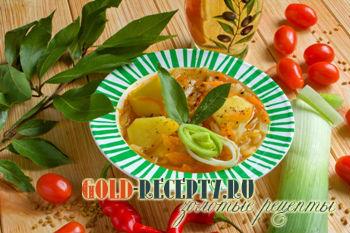 Постный суп с пажитником (бобами шамбалы)