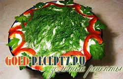 Салат с курицей «Гродненский» простой рецепт с фото
