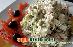 """Салат из """"Мивины"""" рецепт быстрого и вкусного салата с фото"""