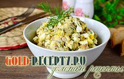 Салат из рыбных консервов и риса рецепт вкусного салата