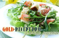 Салат с гренками и яйцом рецепт с фото