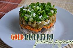 Салат с курицей и грибами с фото рецепт салата курица грибы слоями