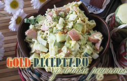 Быстрый салат с макаронами рецепт