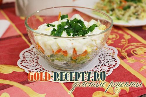 Салат с сайрой, рецепт салата из консервированной сайры