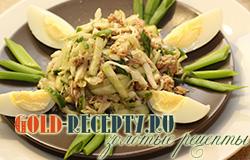 Салат с консервированным тунцом рецепт с фото