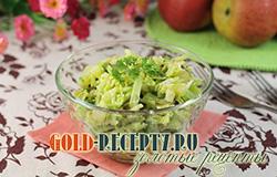 Салат зеленый с зеленым горошком, рецепт простого и вкусного салата с фото
