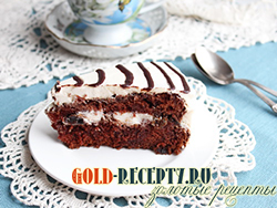Шоколад  на кипятке рецепт вкусного шоколадного торта