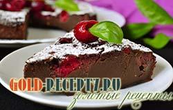 Шоколадный клафути с вишней рецепт с фото