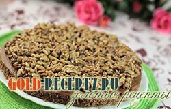 Шоколадный пирог с семечками