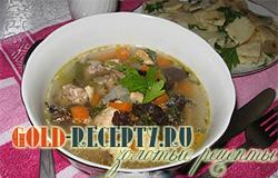 Суп венгерской кухни — мясной суп с грибами