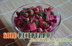 Свекольный салат с сардиной, как приготовить быстрый и простой салат из свеклы рецепт с фото