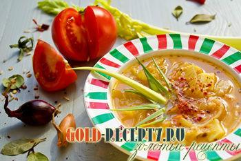 Постный томатный суп с рисом по-польски