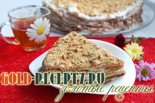 Торт Медовик со сметанным кремом рецепт с фото , как приготовить медовик в домашних условиях