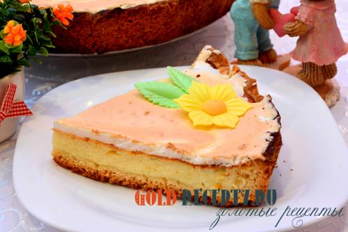 """Торт """"Слезы ангела"""", творожный торт с меренгами"""