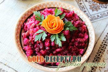 Винегрет по-буковински, как приготовить винегрет с квашеной капустой и фасолью