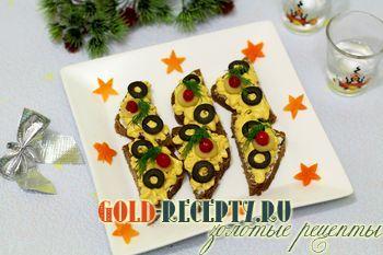 Праздничная закуска из сельди новогодний рецепт с фото
