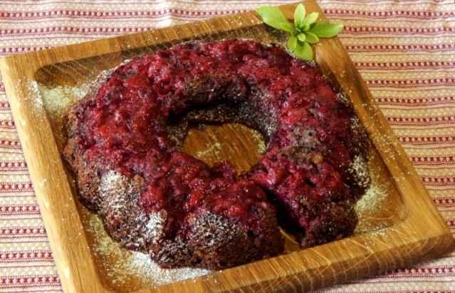 Малиновый кекс — фото рецепт
