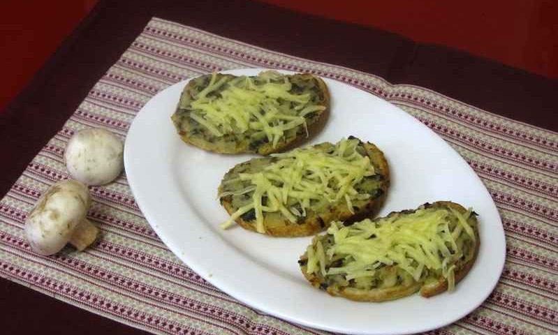 Хрустящие бутерброды с грибами