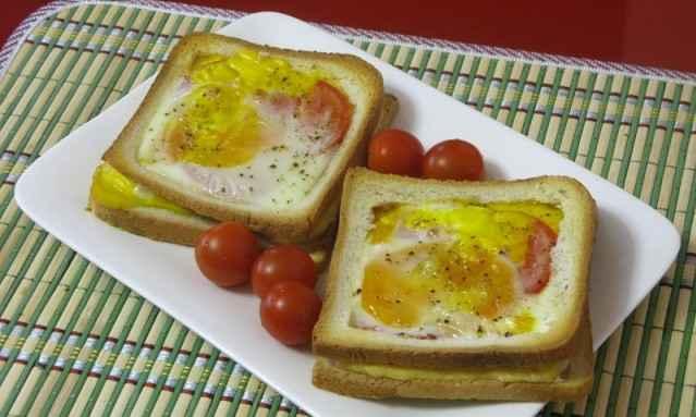 Утренний «дырявый» бутерброд