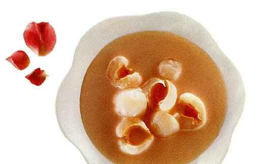 Пудинг-желе из лихеи и кокоса