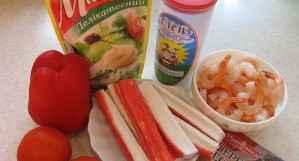 Креветочный салатик - ингредиенты