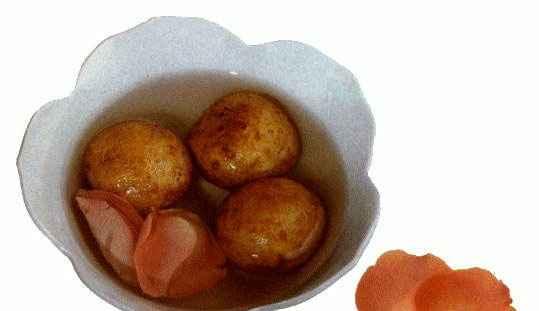 Оладушки круглые в ароматном сиропе