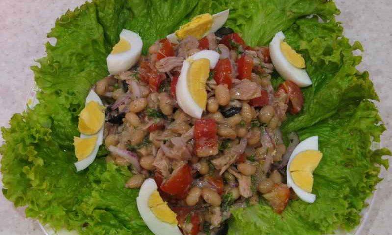 Салат Нисуаз с тунцом — фото рецепт