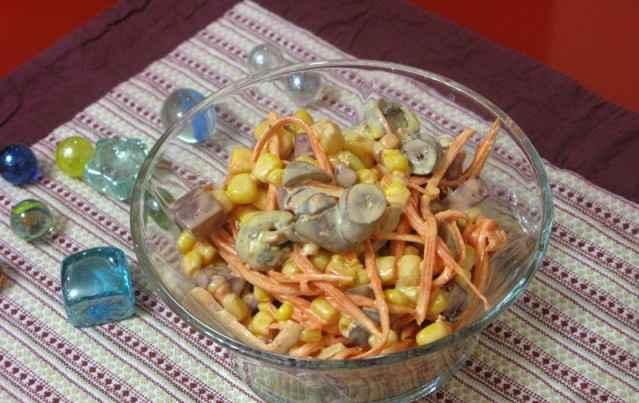 salat s kyrinimi serdechkami