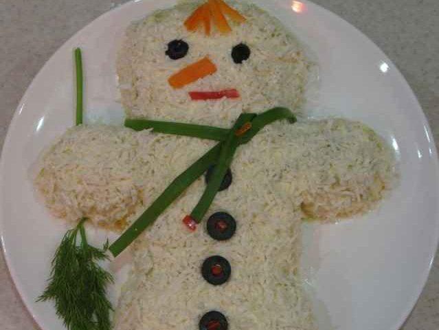 Салат «Снеговичек» — фото рецепт