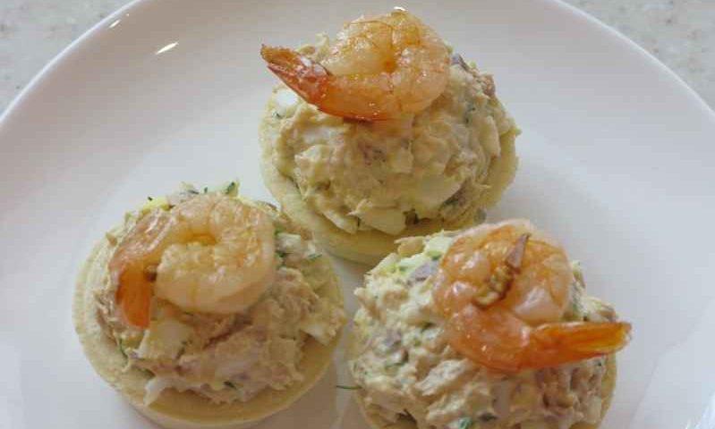 Тарталетки с креветками фото рецепт