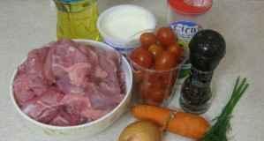 Кролик тушеный с овощами - ингредиенты