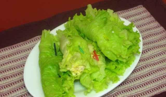 zakyska v listjax salata