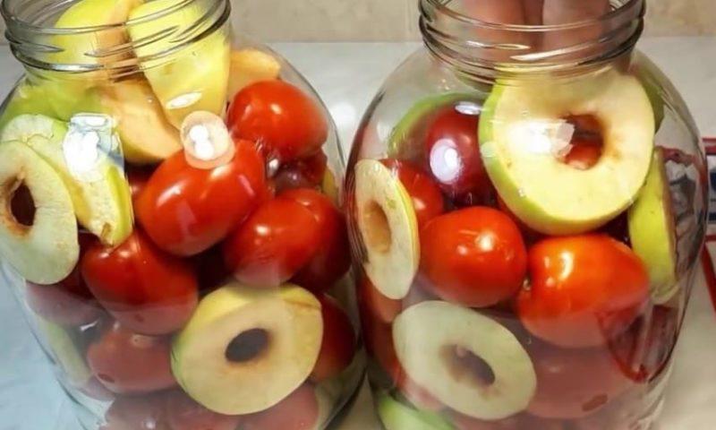 Помидоры с яблоками, горчицей и таблеткой аспирина